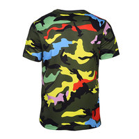 2017 Hot Quality New Fashion Hip Hop Men T Shirt With Camo Printed Short Sleeves T