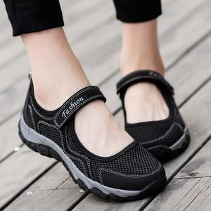 Image 4 - Zomer Mesh Sneakers Vrouwen Flats Schoenen Adem Wandelschoenen Loafers Casual Schoen Vrouwelijke Tenis antislip Fashion Sneaker Sapatos Feminino