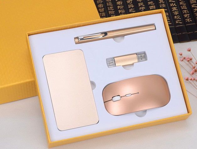 Signing Pen with 8g u disk +wireless mouse+mobile power  Student graduation prize Company business gift  souvenirs pen o henry prize stories 2009
