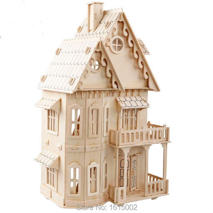 3d puzzle miniature model large diy wooden doll house toy. Black Bedroom Furniture Sets. Home Design Ideas