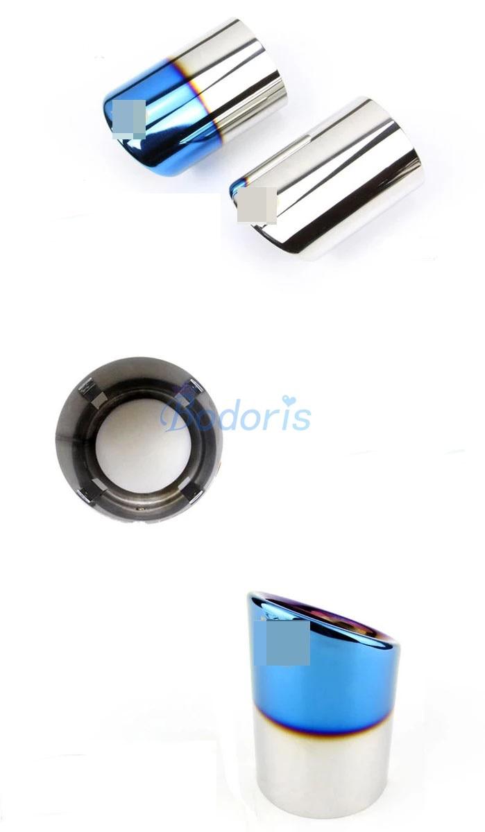 Black titanium Rear Exhaust Muffler Tip End Pipe For Mercedes-Benz GLC 2016-18