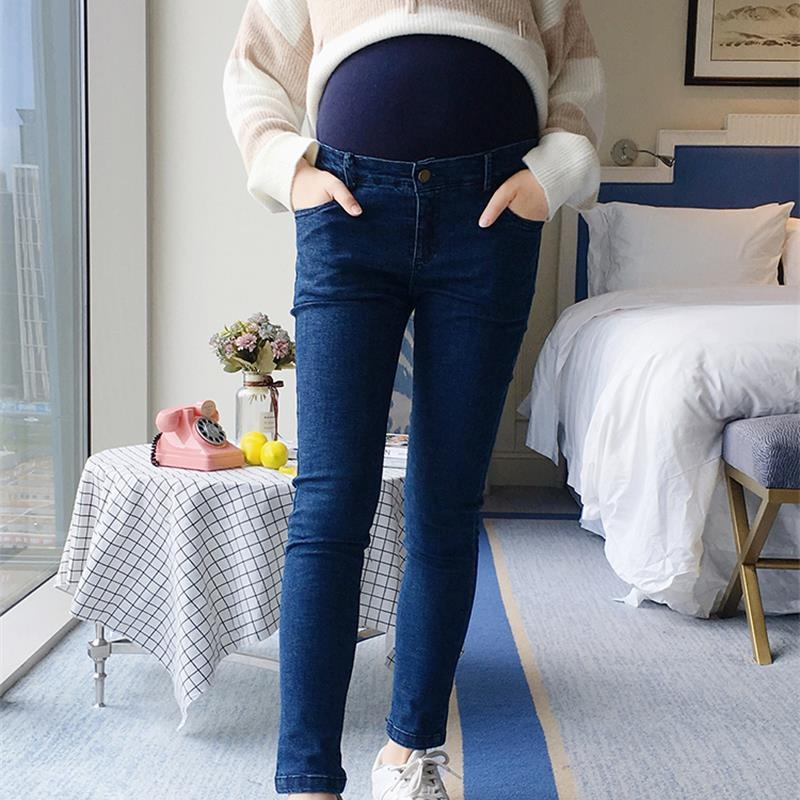 Pregnant women pants spring and autumn 2018 new pregnant women jeans tide mother wearing leggings stomach lift pants