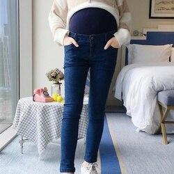 Zwangere vrouwen broek en najaar 2018 nieuwe zwangere vrouwen jeans tij moeder dragen leggings maag lift broek