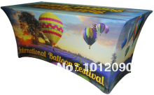 6ft Custom printed spandex table covers Logo tablecloth