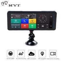 HYT Car DVR 4G 6.86″ Car DVR Recorder GPS Navigation Android RearView dashcam with wifi 1080P Bluetooth Car Registrar Dual Lens
