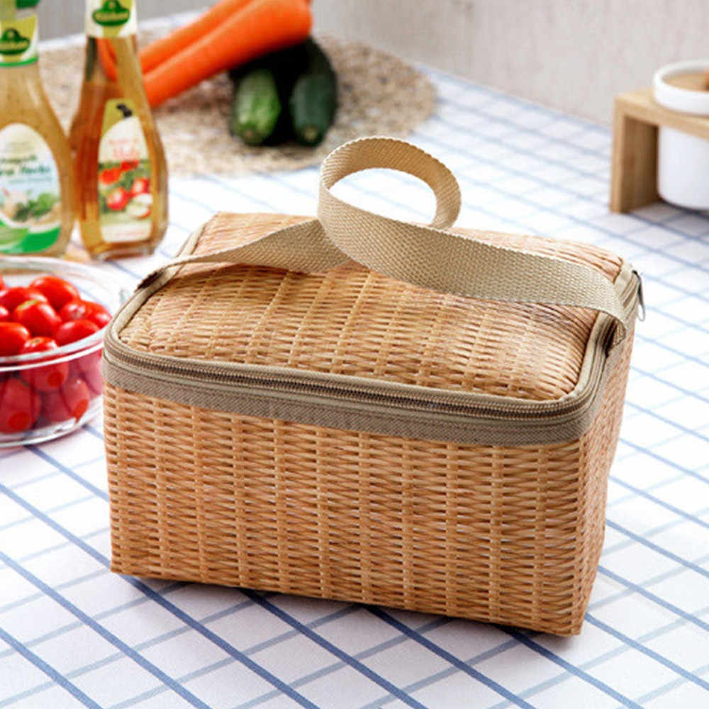 Lunch Bag For Women Portable Thermal Insulated Bento Box Picnic Tote Storage Camping Travel Men Food Bag