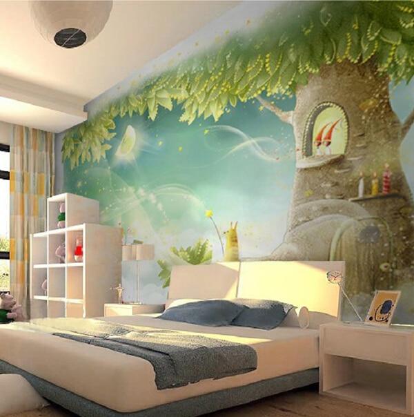 De dibujos animados de televisi n de fondo mural for Mural para habitacion