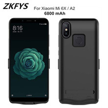 ZKFYS 6800mAh External Power Bank Pack For Xiaomi Mi 6X Power Case Ultra Thin Fast Charger Battery Cover Case For Xiaomi Mi A2 цена 2017