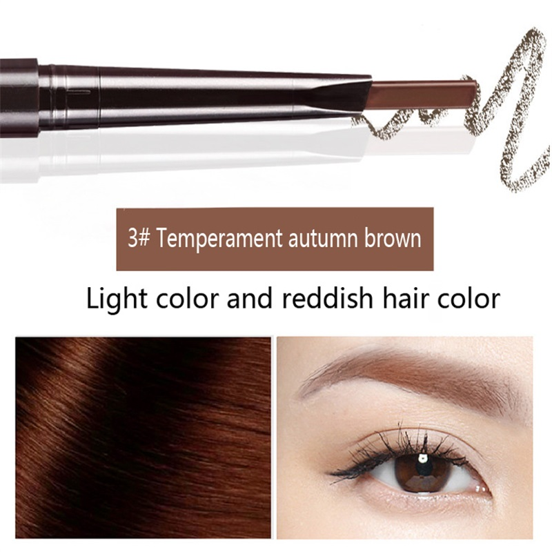 Hot Sale Eyebrow Automatic Tattoo Pen Waterproof Eye Makeup 5colors Easy Use Eyebrow Pencil Eyebrow #01 natural cool black 4