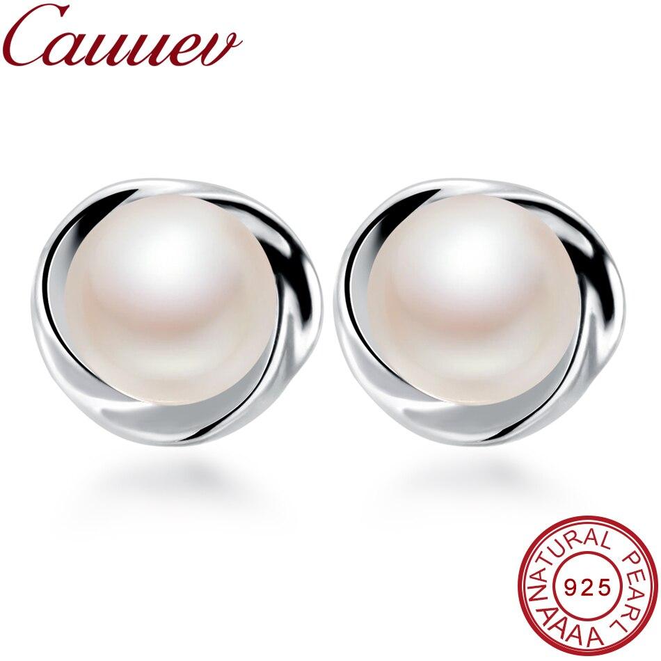 925 Sterling Silver Stud Earring For WomenTop AAAA freshpearl Earrings