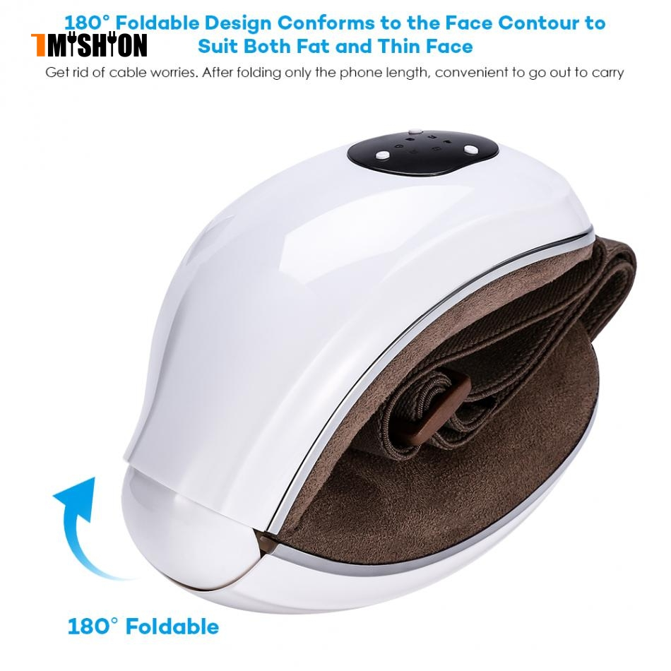 где купить Electric Vibration Eye Massager Infared Heat Air Pressure Therapy Stress Relief Eye Care Device With Music White по лучшей цене