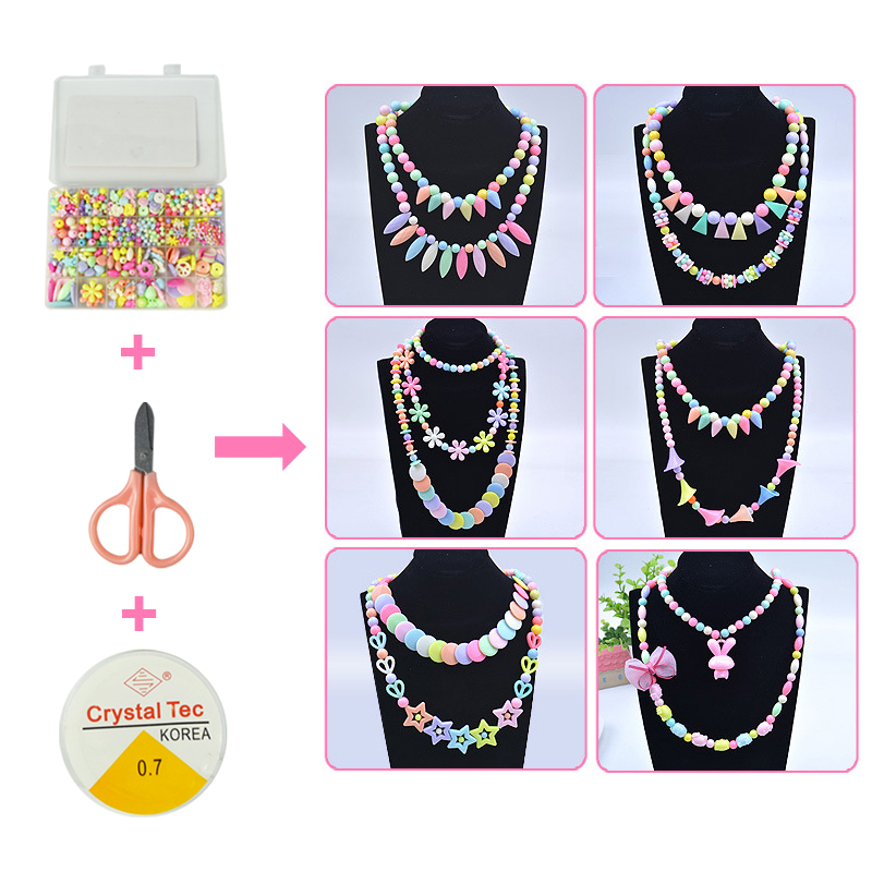 Handmade DIY Beaded Toy 24 Grid Girl Jewelry Making Toys Children Gift