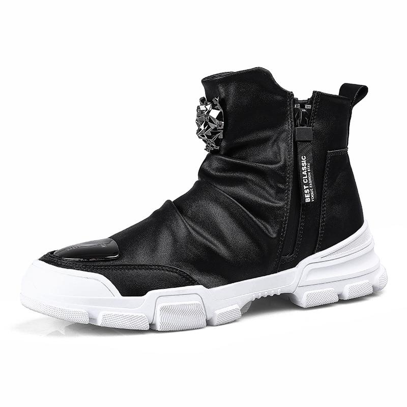 Hot Sale Boots Cow Suede Men's Winter Ankle Boot Men Warmest Snow Boots Zipper Side Boot Men Casual Shoe #20NE50