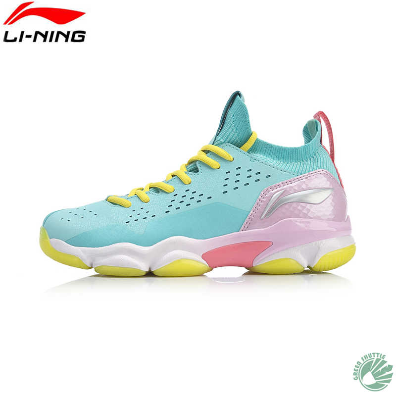 Genuine LI-NING Women Badminton Shoes 2019 Ranger TD breathable Wear-resistant Shock-absorbing Training Shoes AYTP012-3