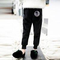 Autumn Winter Baby Kids Girls Velvet Sports Pants Children Thick Velvet Pants Casual Trousers Kids Warm