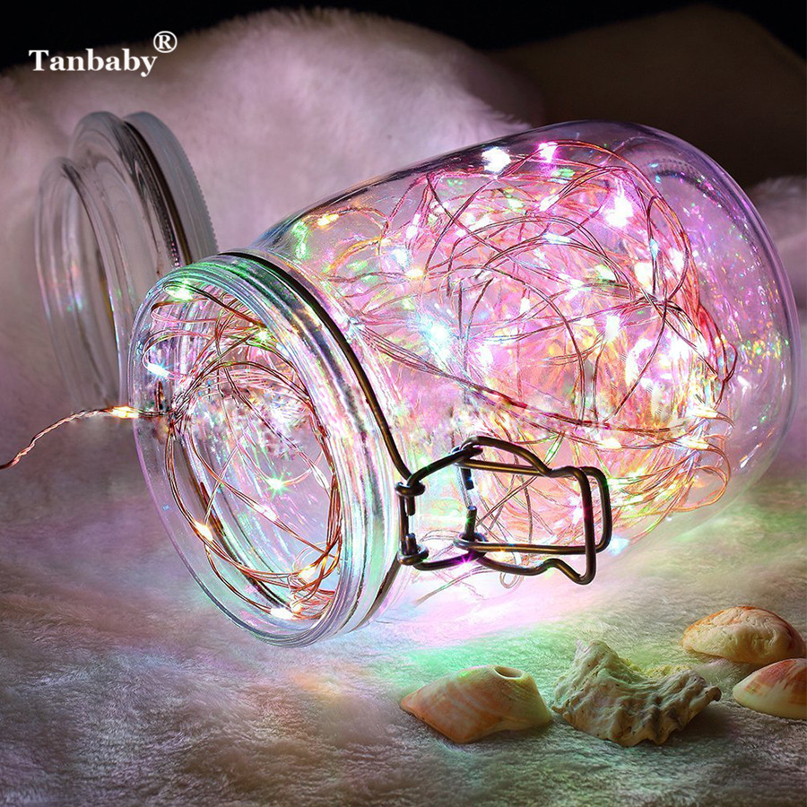Tanbaby Copper Wire Flasher LED Fairy String Light 10M 100LED Battery Remote Controller Christmas New Year Garland Decoration