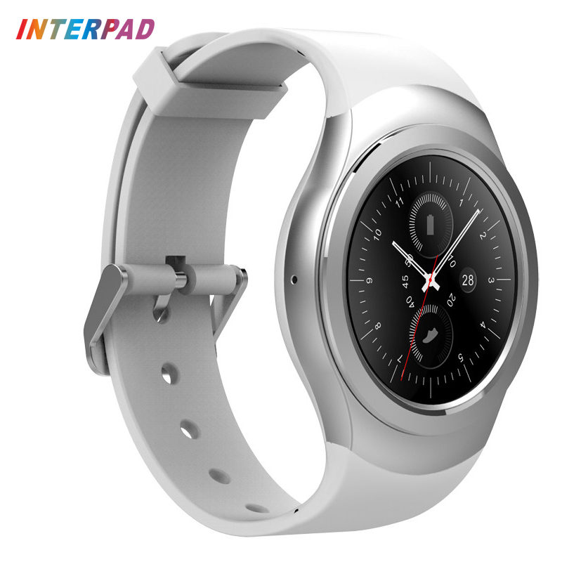 Interpad Rotating Bezel Smartwatch Bluetooth font b Android b font Smart Watch Connected Wristwatch For iOS