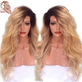 Hot Sale Wig Two Tone Ombre Wigs 1b/27 Color Full Lace Human Hair Wigs 180 Density Body Wave Glueless Lace Front Human Hair Wigs