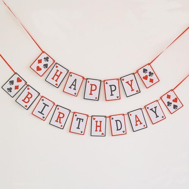 Hạnh phúc sinh nhật Biểu Ngữ, Casino Vòng Hoa sinh nhật, 21st đảng trang trí nội thất, Poker Ban Đêm, Las Vegas Đảng trang trí nội thất