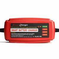Automatic 12V 5A Smart Car Battery Charger Maintainer Desulfator For Lead Acid Batteries 100 240V AC