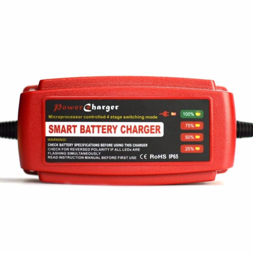 Waterproof 12V 5A Car <font><b>Battery</b></font> Charger Maintainer & Desulfator Smart <font><b>Battery</b></font> Charger for AGM GEL WET <font><b>Batteries</b></font> EU/AU/UK/US Plug