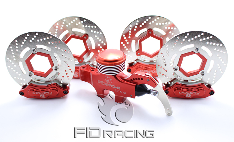 FID 4 wheel hydraulic brake set for Baja 5B SS 5T main pump combination for gtb 4 wheel hydraulic brake set fit for 1 5 rc car hpi baja 5b ss