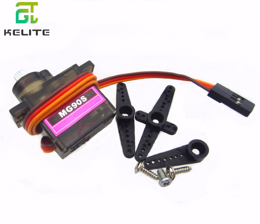 1PCS  gear Digital MG90S 9g Servo Upgraded SG90 For Rc Helicopter plane boat car MG90 9G