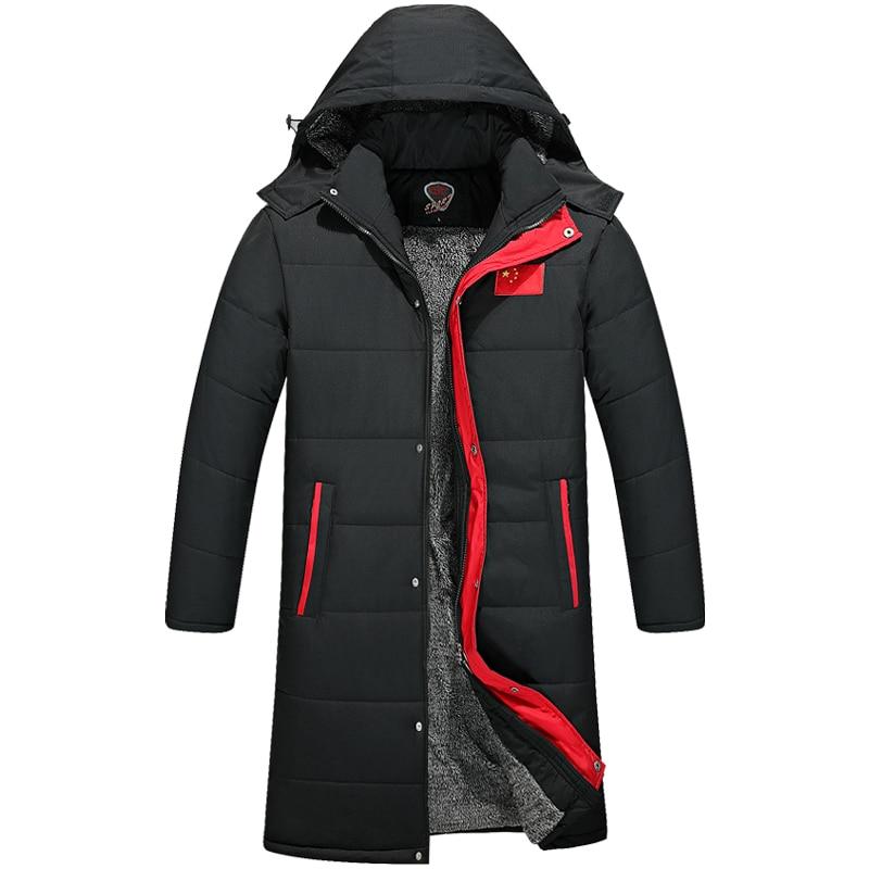 drop shipping men winter jackets and coat long style hooded warm   parkas   outwear overcoats ABZ100