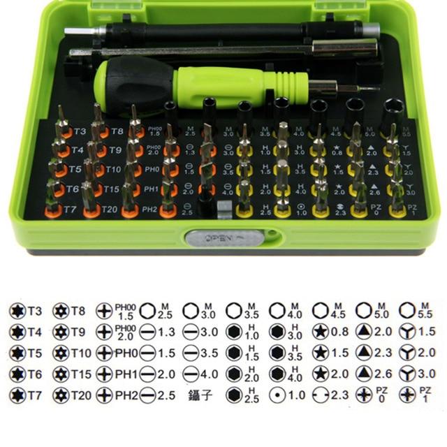 53 in1 Multi-Bit Precision Torx Screwdriver Tweezer Cell Phone Repair Tool