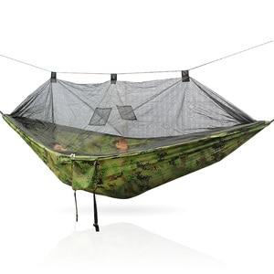 Image 5 - 安全屋外屋外折りたたみポータブルキャンプハンモックテント