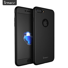360 Case For iPhone 7 Plus, Shock Absorption IPAKY Degree Plus Full Body Cover + Glass Screen Protector