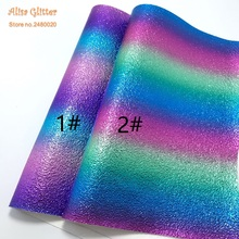 1 STKS A4 21X29 cm Alisa Glitter Cuero Sintetico Synthetische Lederen  Kunstleer Rainbow Lederen voor DIY 6ec0a96865a6