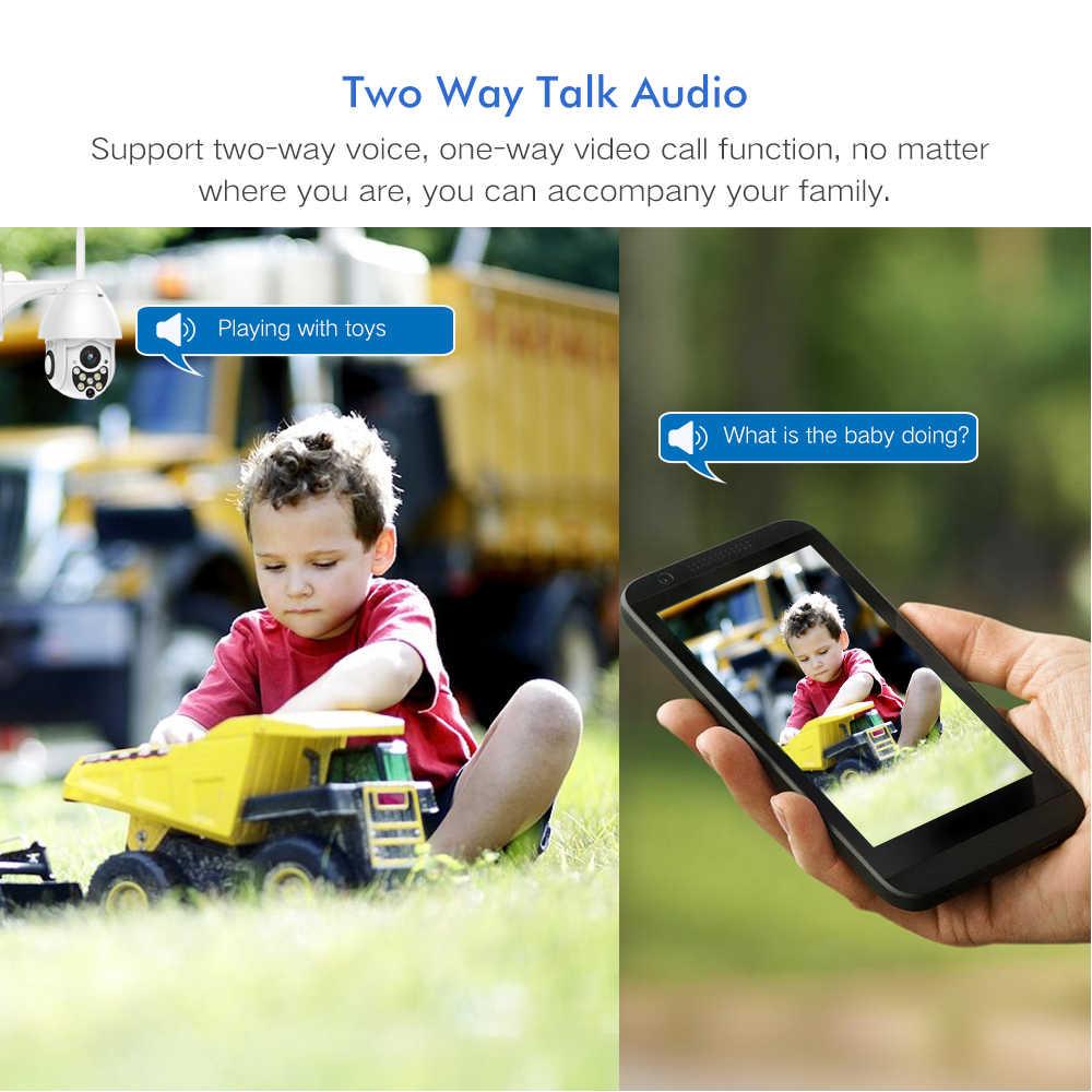 Sdeter 1080P Ptz Wifi Camera Outdoor Speed Dome Draadloze Beveiliging Ip Camera Exterieur Pan Tilt 4X Zoom Ir Cctv p2P Cam (2 Pack)