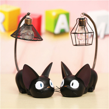 2019 Newest LED Night Light JiJi Small Cats Toy Lamp For Child Led Desk Home Decoration Resin Kids Cartoon Room
