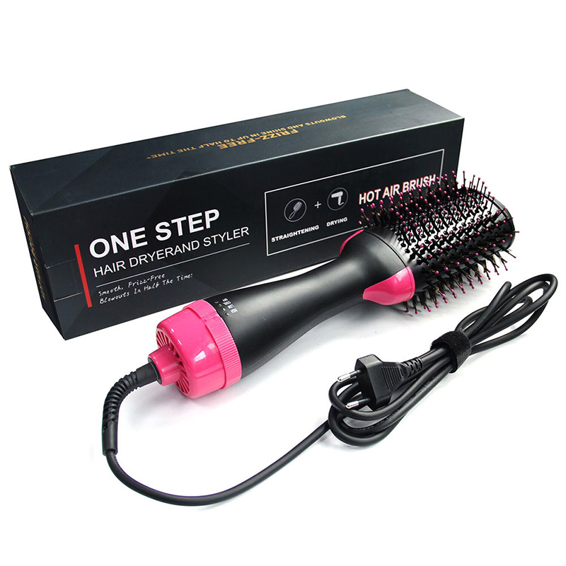 Tangle Hairbrush Detangling Comb For Hair One Step Hair Blower And Volumizer Brush 3 In 1 Dryer Straightener Curler Styling Comb