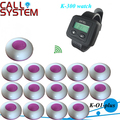 New item Office call bell system one watch receiver K-300 with 15 pagers in 433.92mhz FREE SHIPPING