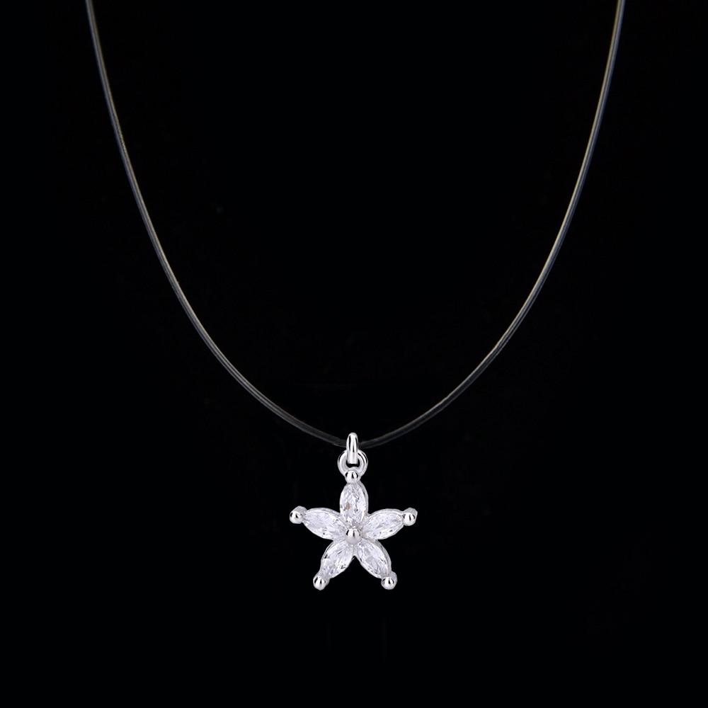925 Sterling Silber Schmuck Zirkon Kristall Halsband Halskette Teufel Auge Cube Stern Anhänger Halskette Für Frauen Gold Farbe Geschenk Hitze Und Durst Lindern.