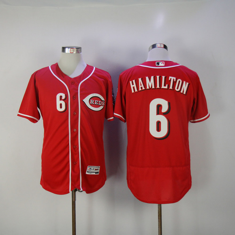 Mens Cincinnati Reds Billy Hamilton Flexbase Fully Stitched Baseball Jersey