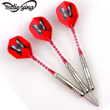 New YEZLIEYING 3 Pieces / Set of Professional Darts 26 Grams Black Butterfly Steel Tip Aluminum Red