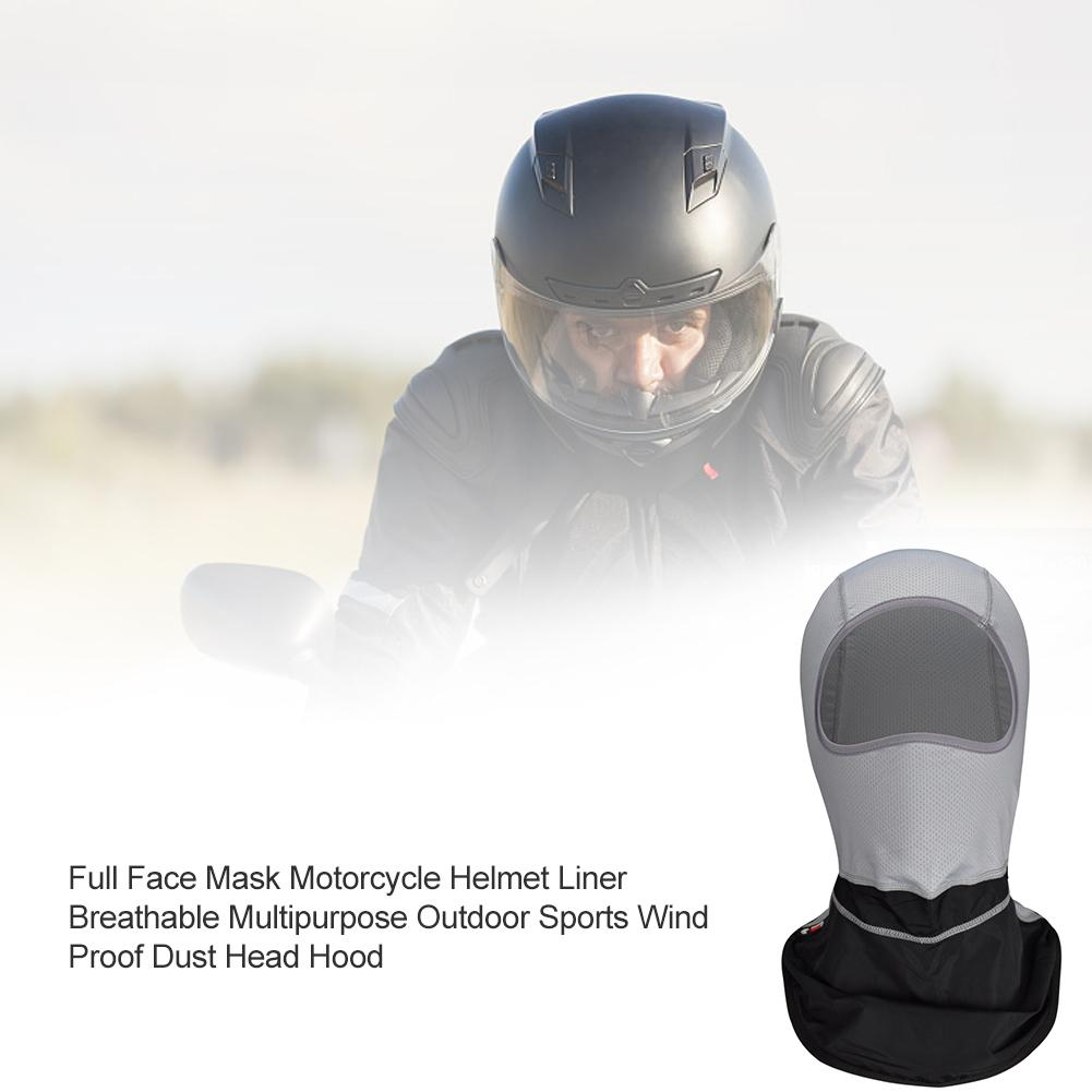 For GHOST RACING Full Face Mask Motorcycle Helmet Liner Breathable Multipurpose Outdoor Sports Wind Proof Dust Head Hood(China)
