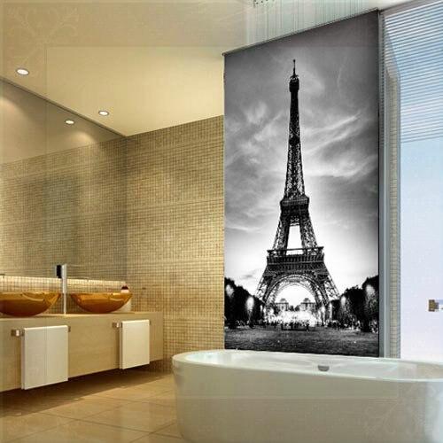 3D Hallway Mural Wallpaper Eiffel Tower Europe Wall Paper Living Room  Bedroom Wall Decor Black White 3D Murale Papier Peint Mura In Wallpapers  From Home ...