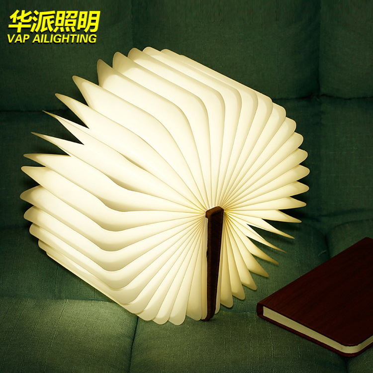 Gift small night lights LED desk lamp book light wooden book lights LED desk lamp