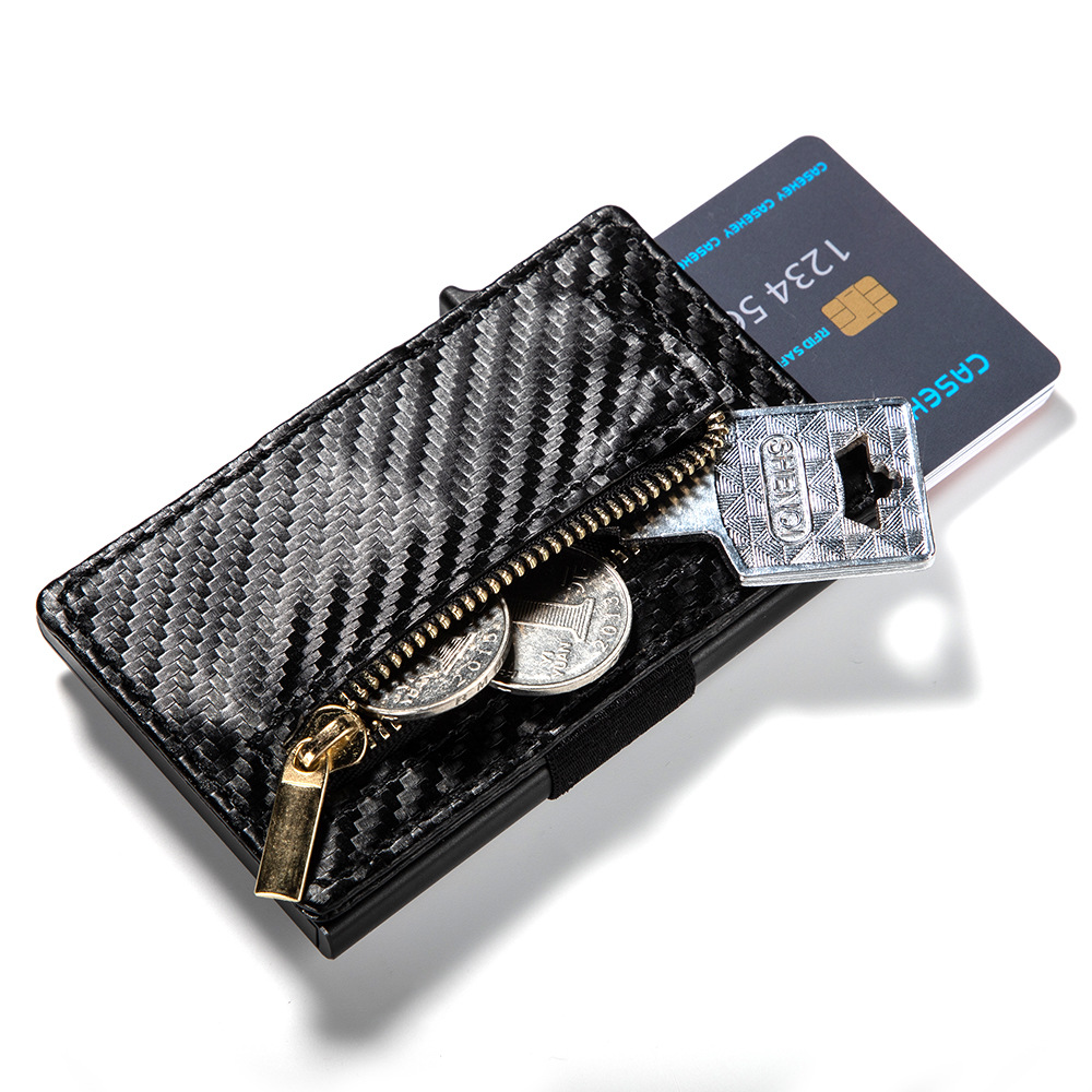 2019 New Style PU Leather Credit Card Holder Anti theft RFID Card Holder High Quality Card Wallet Pop Up Cards Case in Card ID Holders from Luggage Bags