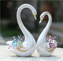 European marriage couples swan, animal craft ornaments, creative gifts Home Furnishing wedding gift