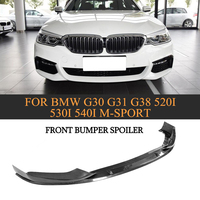 Carbon Fiber Front Bumper Lip Spoiler Splitters Apron for BMW 5 series G30 G31 G38 520i 530i 540i M sport Bumper 2017 2018
