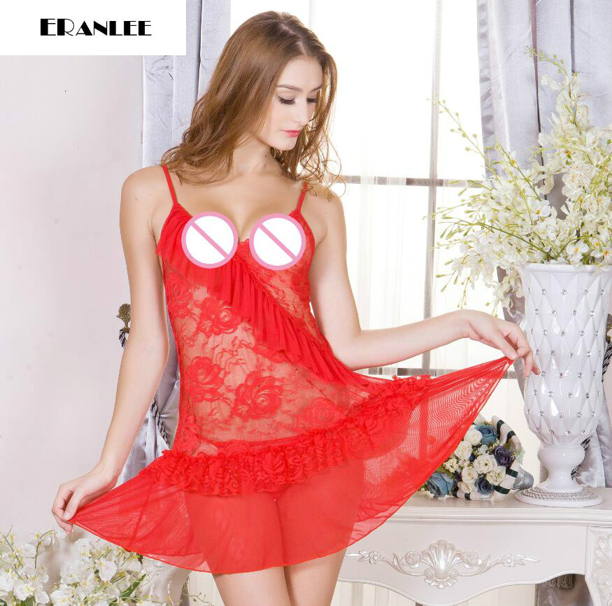 7 colors Women 2017 sexy lingerie hot plus size sexy babydoll + panties nightgown erotic sex dress sexi underwear sexo costume