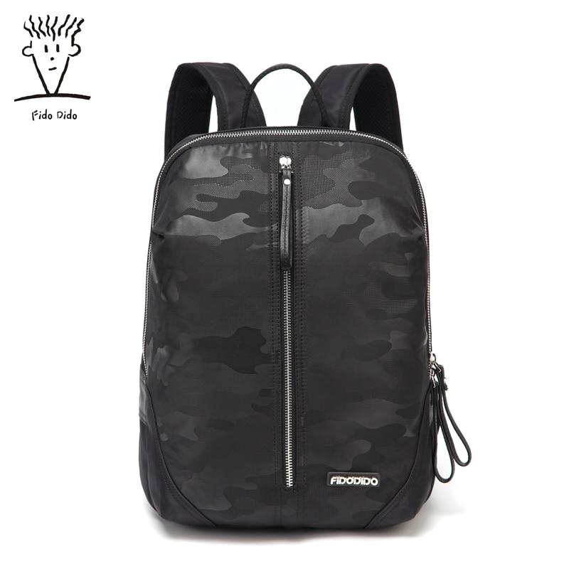 Fido Dido Men Business Backpack Men's Casual Fashion Large Capacity Travel Shoulder Bag Multipurpose Package!! fido