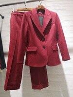 2019 Весенние новые костюмы женский клетчатый блейзер пальто + брюки 2 цвета ddxgz3