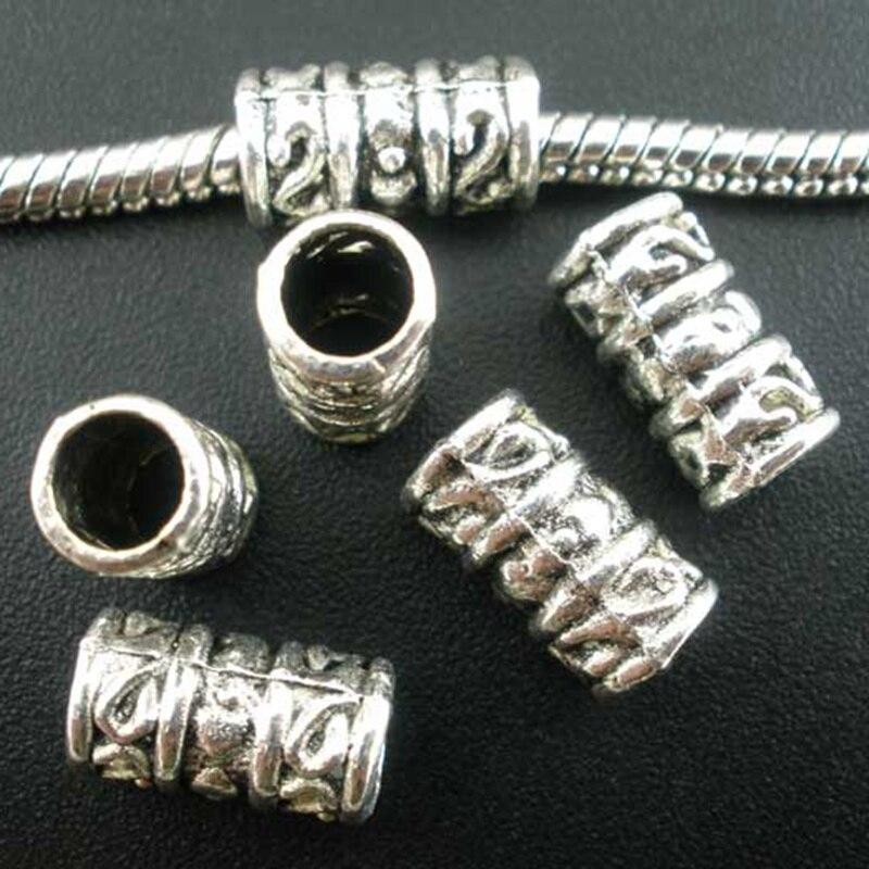 5//10PCS Silver End Caps Crimp Bead Stopper Charm Fit 3-9mm Cord Jewelry Bracelet
