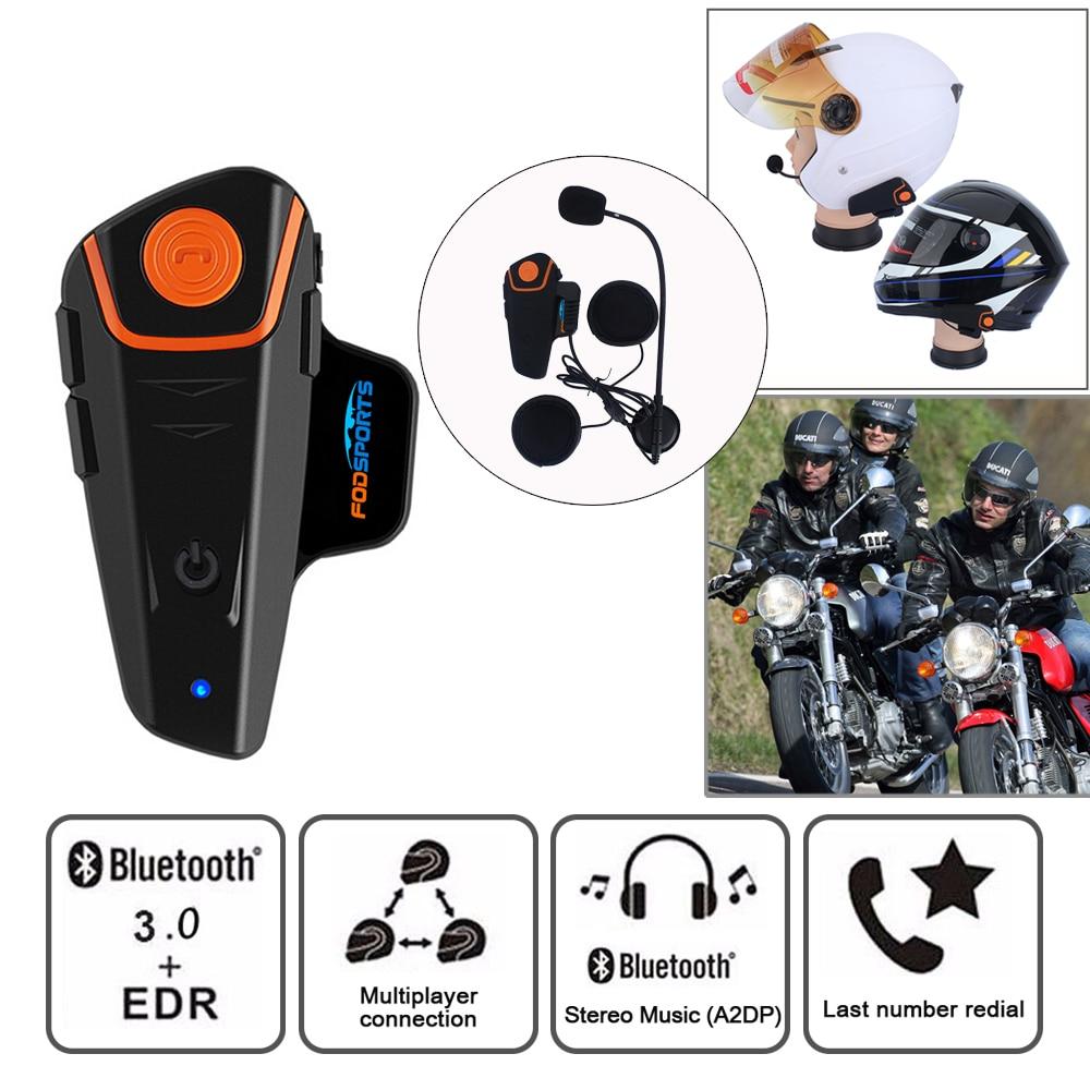 Fodsports BT-S2 Pro moto rcycle intercom 1000m moto helm headset Wasserdichte IPX6 BT Sprech FM Typ-C interface sprech